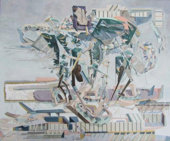 Filip Gruszczyński Ezechiel 1,1 100x120 olej na plótnie